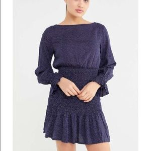 NWT Urban outfitters smocked long sleeve dress